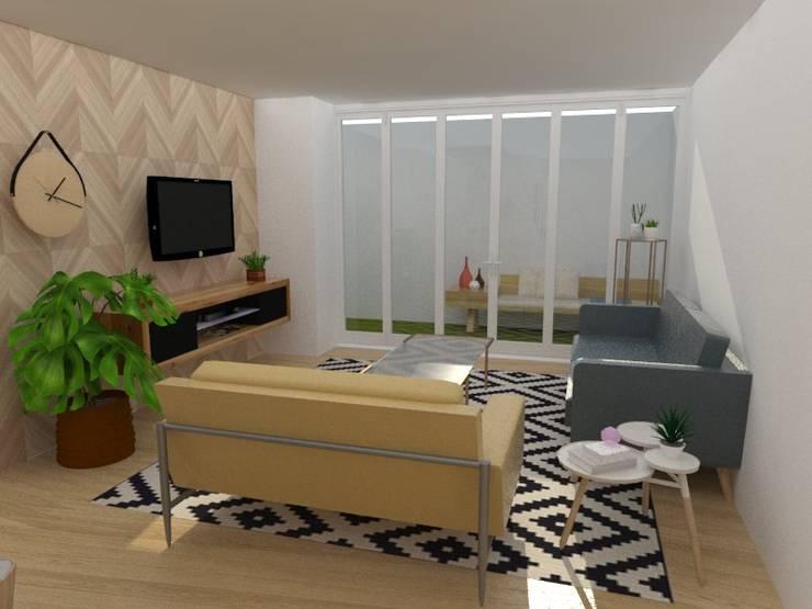 Salas / recibidores de estilo  por 78metrosCuadrados