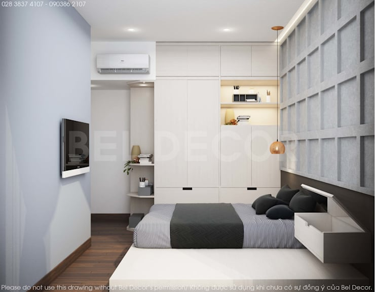HO1808 Modern Apartment Interior Design/ Bel Decor:   by Bel Decor