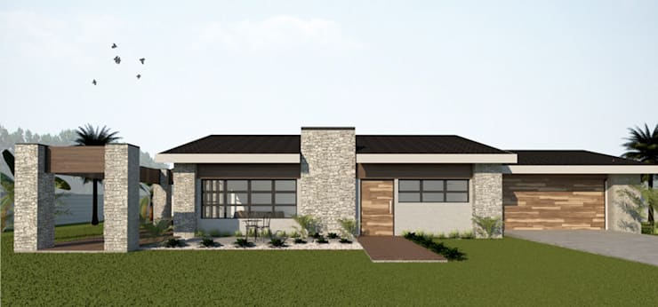 Front of house:  Houses by A4AC Architects, Modern