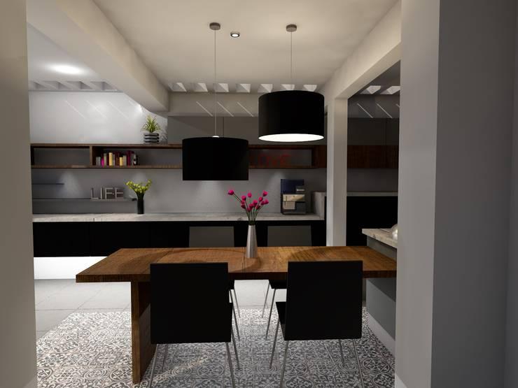 Diseño Cocina: Cocinas de estilo  por A/K Arquitectura