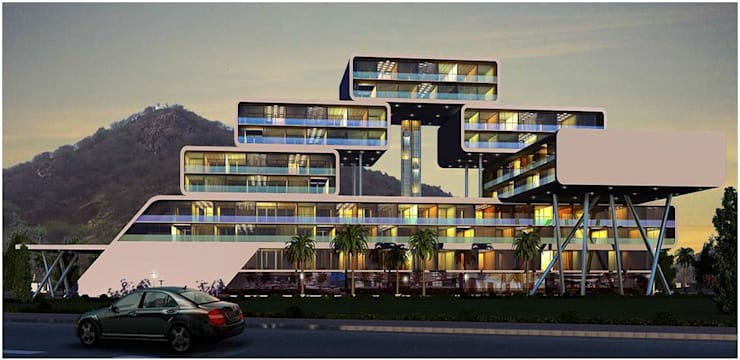 Habitat, Mixed use development, retail, office and serviced apartment:  Hotels by Form & Function,Modern