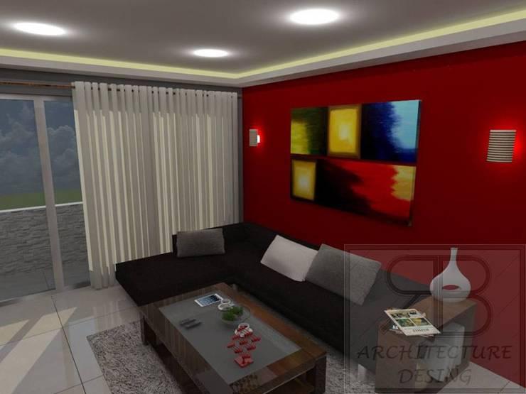 Remodelación Sala Recibidor Apto Res. San Isidro: Salas / recibidores de estilo  por RB Arquitectura & Diseño