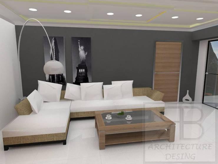 Remodelación Sala Recibidor Apto Res. La Esmeralda: Salas / recibidores de estilo moderno por RB Arquitectura & Diseño