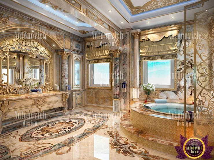​Interior Design Dubai UAE by Katrina Antonovich:  Bathroom by Luxury Antonovich Design, Classic