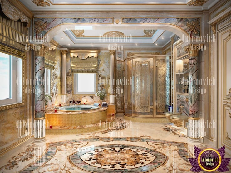 ​Interior Design Dubai UAE by Katrina Antonovich:  Bathroom by Luxury Antonovich Design
