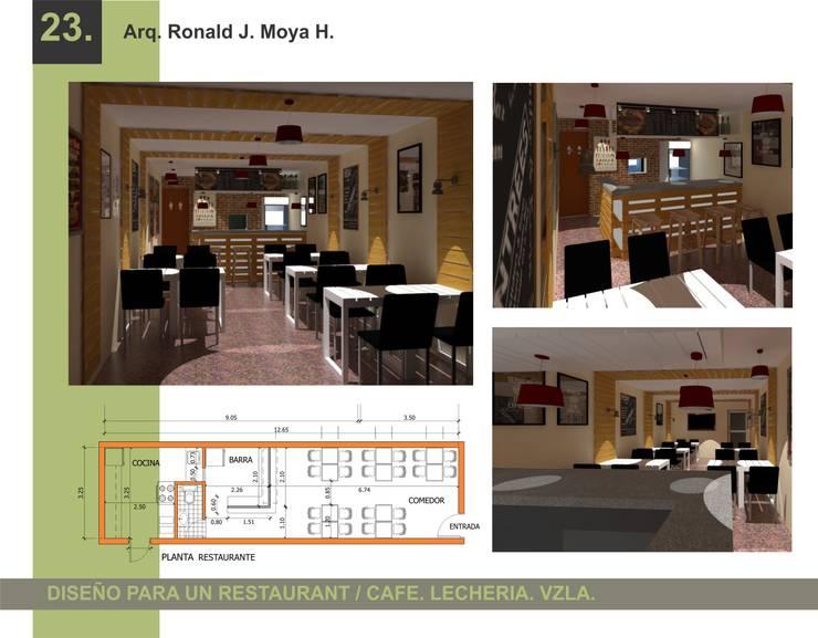 Diseño para un cafe: Casas unifamiliares de estilo  por Arquigroup
