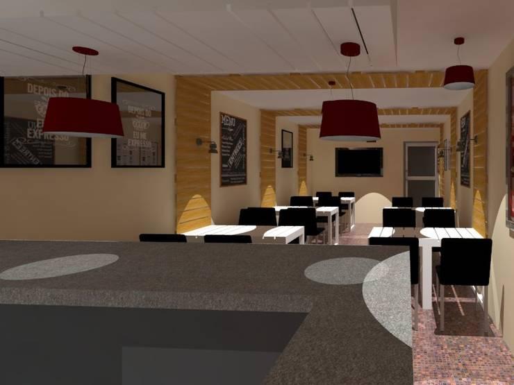 Diseño para Cafe: Casas de estilo  por Arquigroup