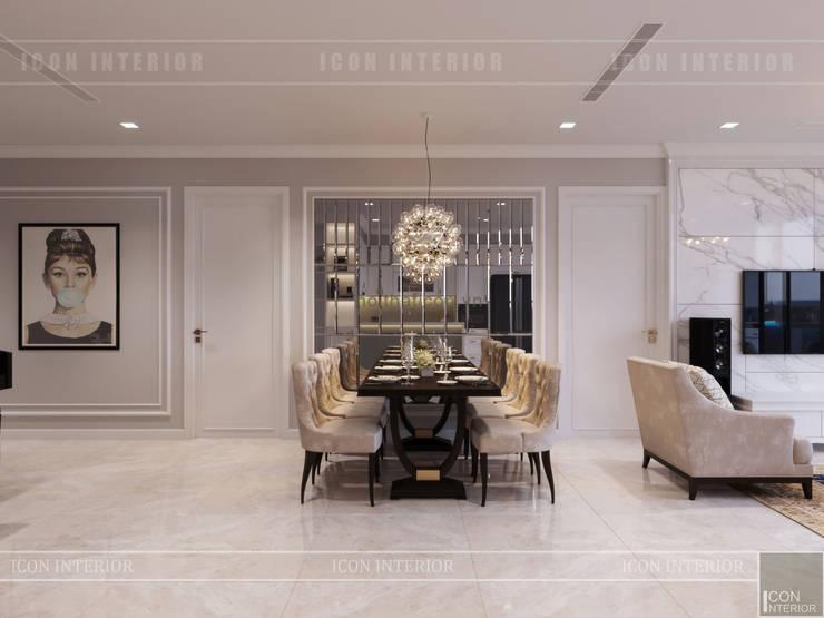 Vinhomes Golden River đẳng cấp với phong cách thiết kế Tân Cổ Điển:  Phòng ăn by ICON INTERIOR