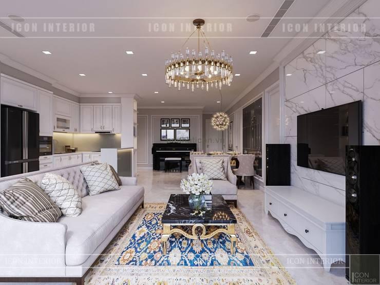 Projekty,  Salon zaprojektowane przez ICON INTERIOR