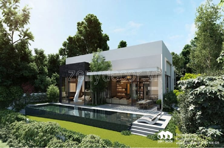 Đắm say trước mẫu biệt thự vườn 1 tầng đẹp:   by Vĩnh Thịnh