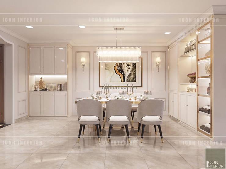 Thiết kế nội thất Tân Cổ Điển sang trọng phong cách Châu Âu:  Phòng ăn by ICON INTERIOR