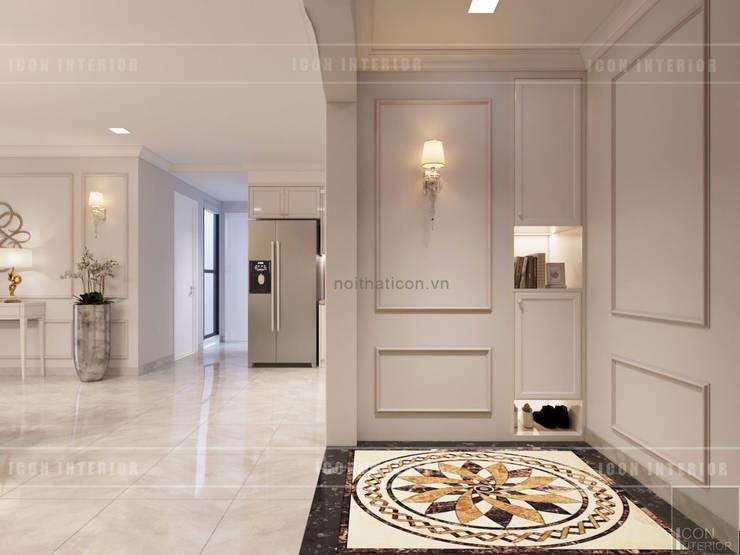 Thiết kế nội thất Tân Cổ Điển sang trọng phong cách Châu Âu:  Cửa ra vào by ICON INTERIOR