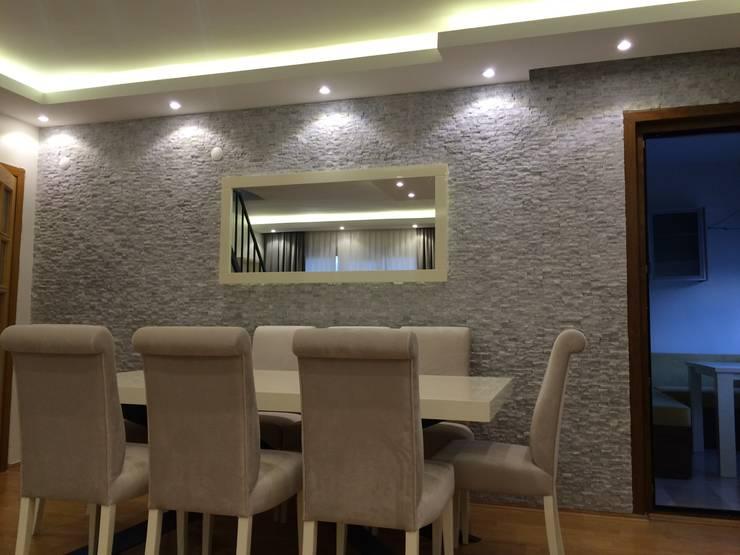 novum dekor – adatepe konut projesi: modern tarz Yemek Odası