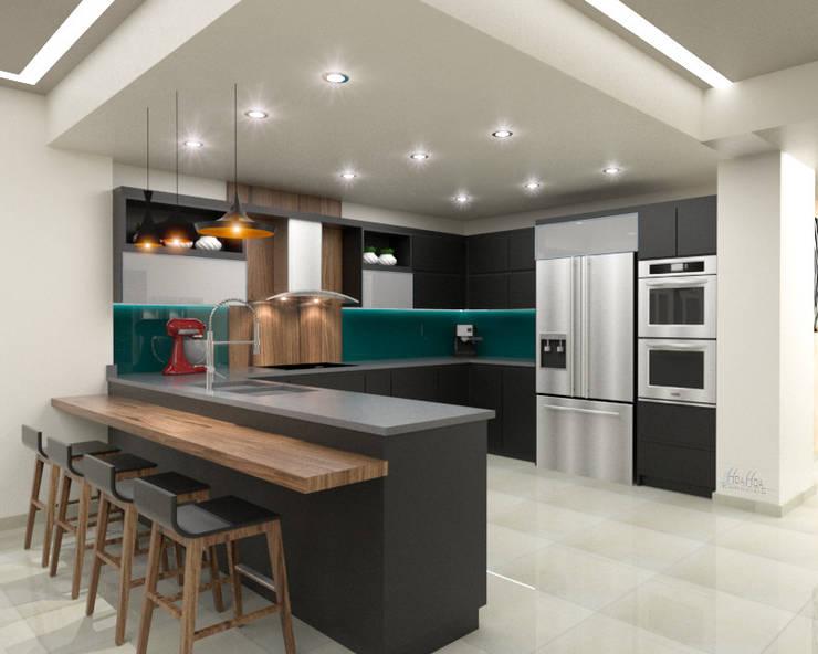 Vista1: Cocina de estilo  por Pinto Arquitectura