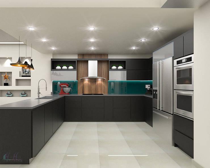 Vista2: Cocina de estilo  por Pinto Arquitectura
