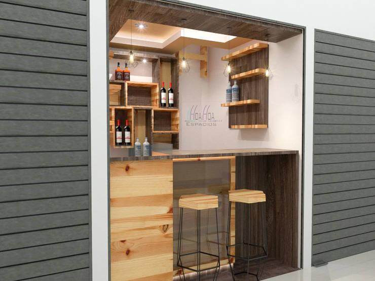 Mini Bodegon2: Espacios comerciales de estilo  por Pinto Arquitectura