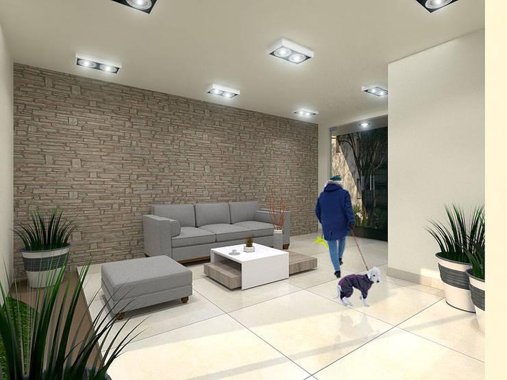 Sala de Espera: Salas de estilo  por Pinto Arquitectura