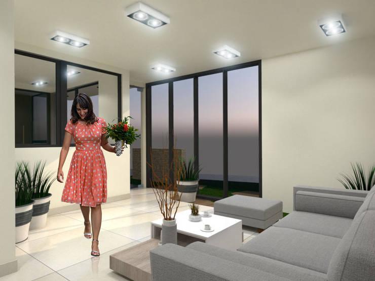 Sala de Espera2: Salas de estilo  por Pinto Arquitectura