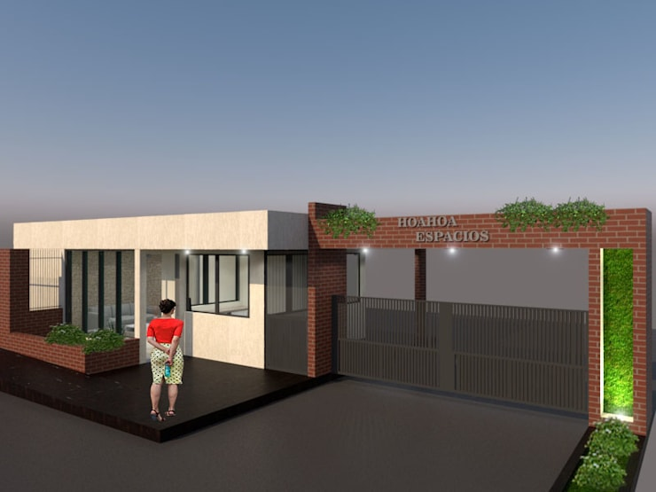 Fachada: Conjunto residencial de estilo  por Pinto Arquitectura