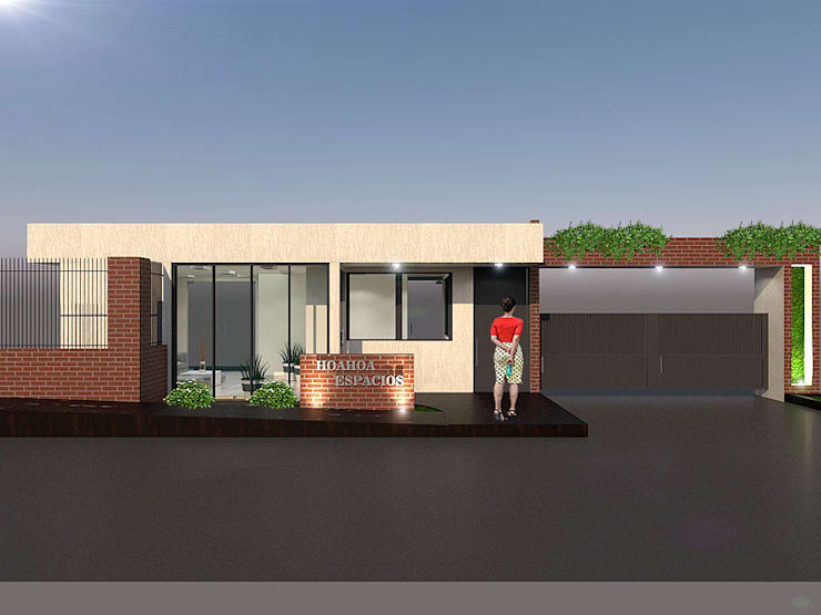Fachada2: Conjunto residencial de estilo  por Pinto Arquitectura