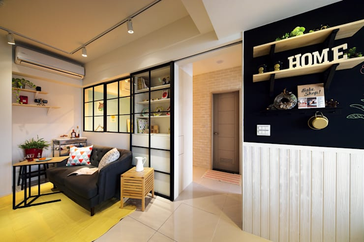 Phòng khách phong cách Bắc Âu bởi 一葉藍朵設計家飾所 A Lentil Design Bắc Âu