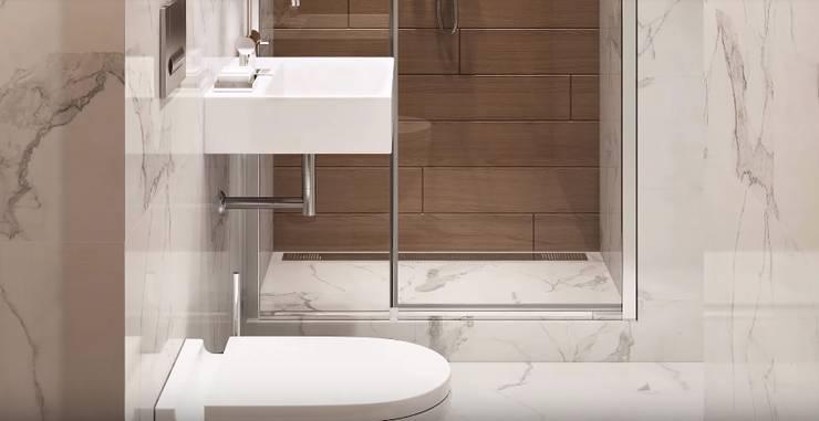 Scandinavian style bathrooms by 'Комфорт Дизайн' Scandinavian Wood Wood effect