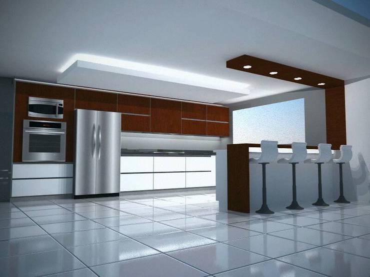Diseño y Modelado 3D Cocina bello monte ccs: Cocinas de estilo moderno por arqyosephlopez