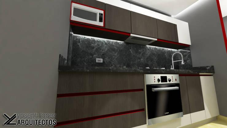 Diseño de Cocina Urb. La Arboleda: Cocinas de estilo moderno por arqyosephlopez