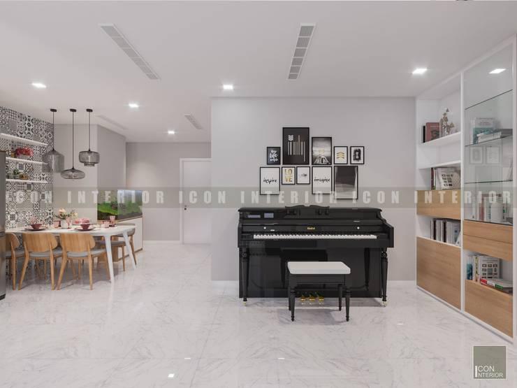 Vẻ đẹp thanh lịch đến từ sự đơn giản – Phong cách thiết kế hiện đại:  Phòng khách by ICON INTERIOR