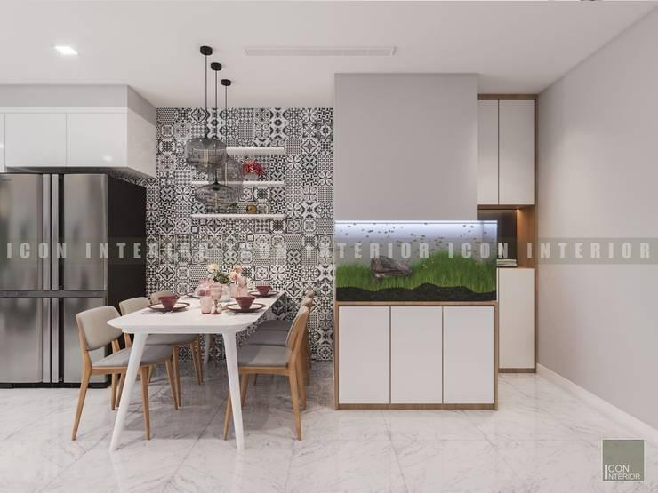 Vẻ đẹp thanh lịch đến từ sự đơn giản – Phong cách thiết kế hiện đại:  Phòng ăn by ICON INTERIOR