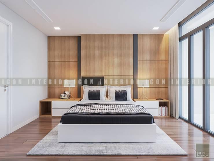 Vẻ đẹp thanh lịch đến từ sự đơn giản – Phong cách thiết kế hiện đại:  Phòng ngủ by ICON INTERIOR
