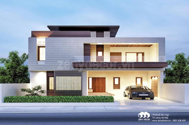 so sánh biệt mẫu thư tân cổ và mẫu biệt thự phố 2 tầng hiện đại:  Multimedia room by Vĩnh Thịnh