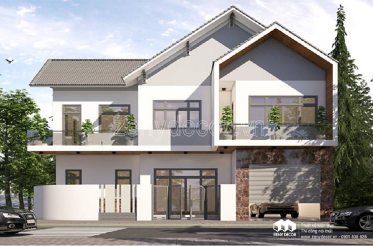 so sánh biệt mẫu thư tân cổ và mẫu biệt thự phố 2 tầng hiện đại:  Household by Vĩnh Thịnh