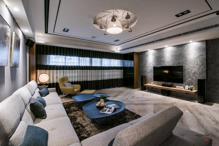 天冠金工美學館:  客廳 by SING萬寶隆空間設計