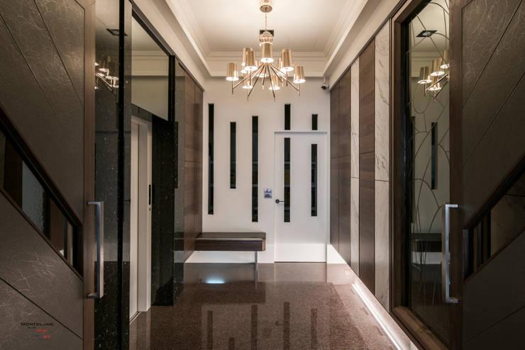 豪邸-京藏:  走廊 & 玄關 by SING萬寶隆空間設計