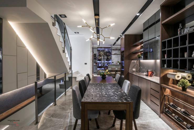 豪邸-京藏:  餐廳 by SING萬寶隆空間設計