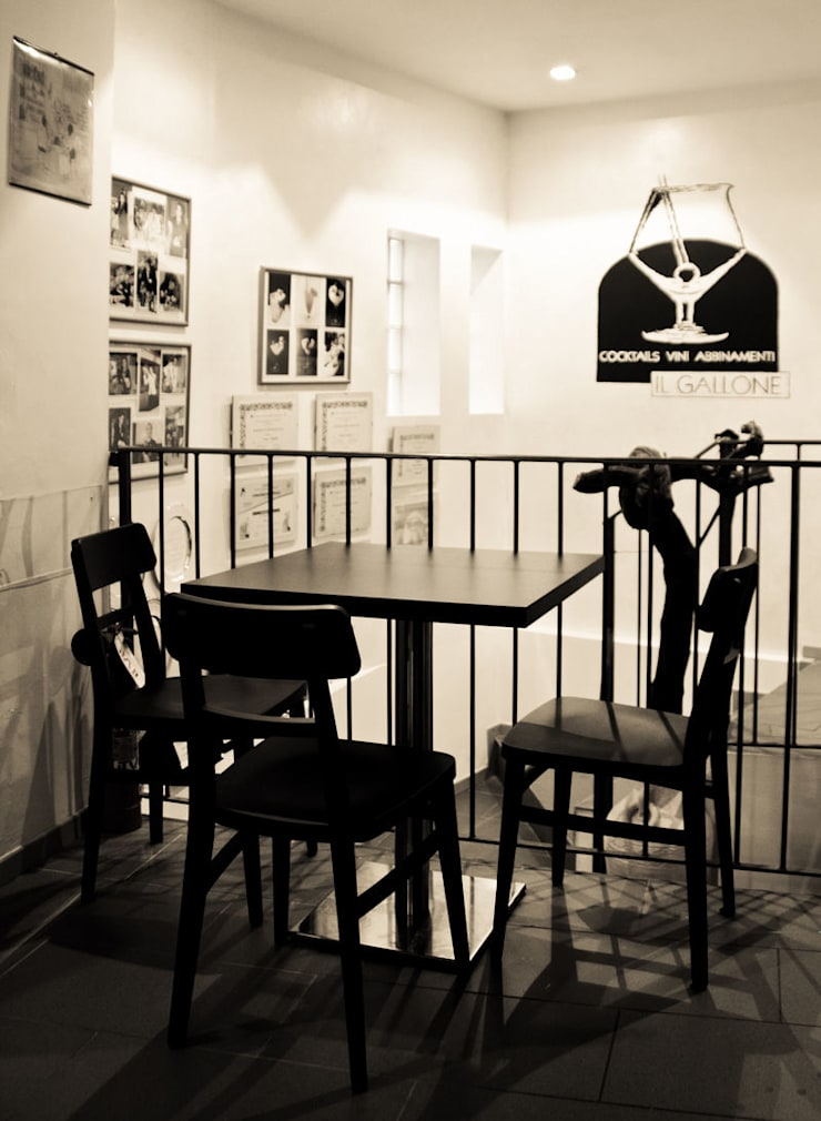 """"""" Il Gallone """"- Cocktail & Wine Bar: Negozi & Locali Commerciali in stile  di Studio di Architettura IATTONI,"""