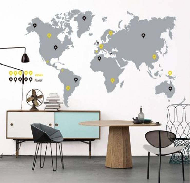 Vinilo Decorativo World Trip: Paredes y suelos de estilo  por TopList,