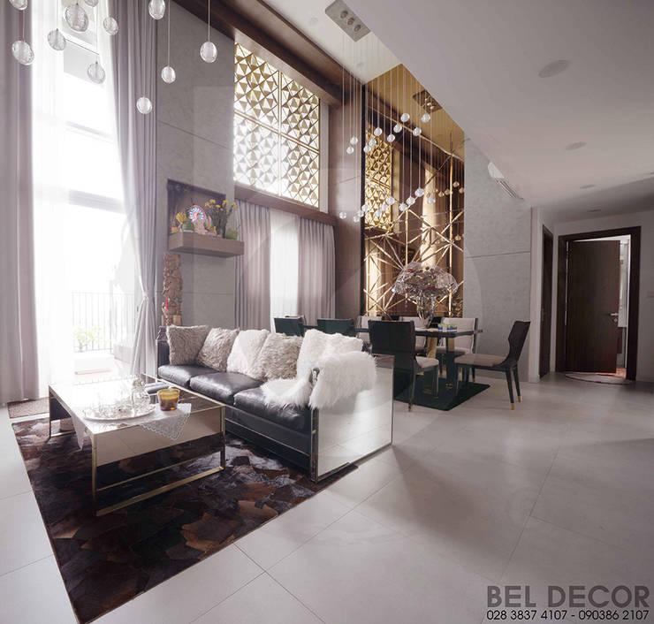 HÌNH ẢNH THI CÔNG HOÀN THIỆN NỘI – NGOẠI THẤT LUXURY PENTHOUSE/ BEL DECOR:   by Bel Decor