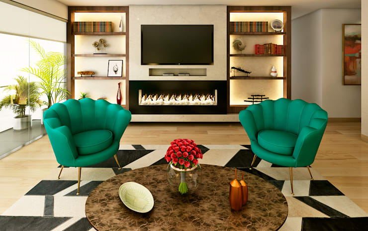 Living room by Luis Escobar Interiorismo
