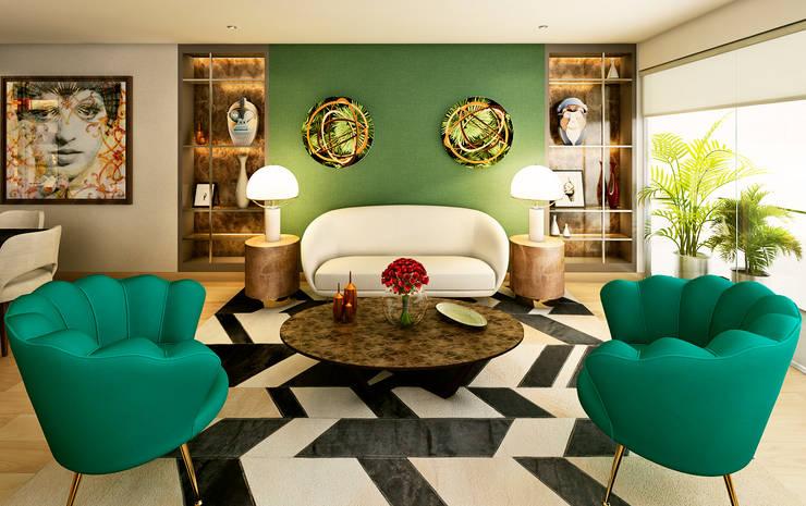 Living room by Luis Escobar Interiorismo,