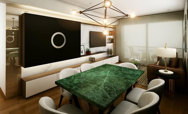 Proyecto LF: Salas / recibidores de estilo  por Luis Escobar Interiorismo