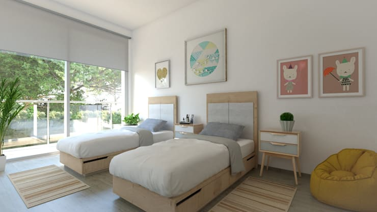 Dormitorio infantil: Dormitorios infantiles de estilo moderno de Pacheco & Asociados