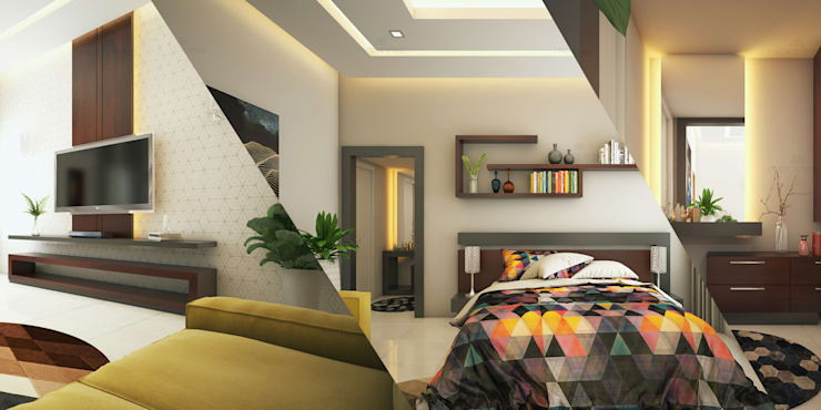 Interior Decorators in Ernakulam:  Bedroom by Monnaie Interiors Pvt Ltd,Minimalist