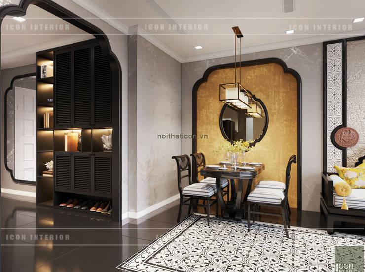 XU HƯỚNG ĐÔNG DƯƠNG ẤN TƯỢNG – Thiết kế căn hộ Vinhomes Golden River:  Phòng ăn by ICON INTERIOR