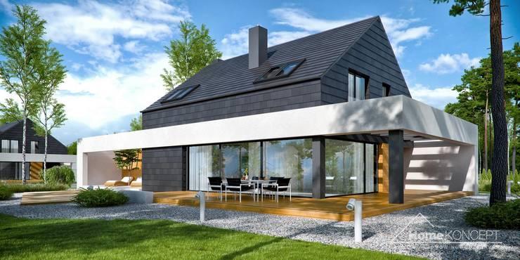 บ้านเดี่ยว โดย HomeKONCEPT | Projekty Domów Nowoczesnych, โมเดิร์น