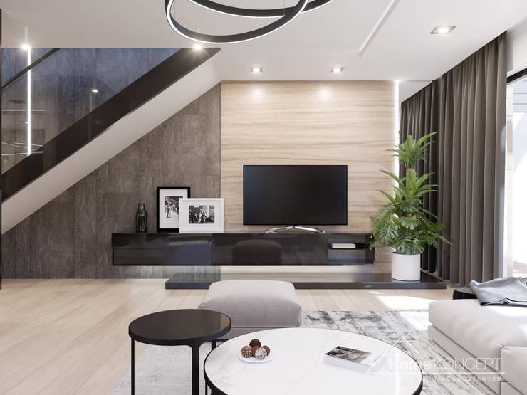 Salon de style  par HomeKONCEPT | Projekty Domów Nowoczesnych, Moderne