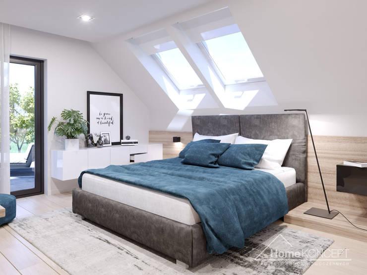 ห้องนอน โดย HomeKONCEPT | Projekty Domów Nowoczesnych, โมเดิร์น