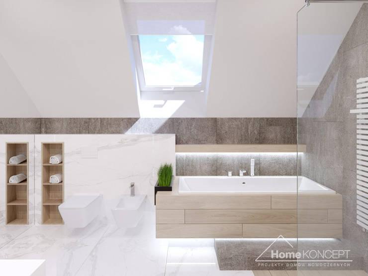 ห้องน้ำ โดย HomeKONCEPT | Projekty Domów Nowoczesnych, โมเดิร์น
