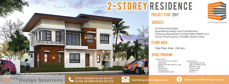 BALITE 2-STOREY HOUSE:   by CB.Arch Design Solutions